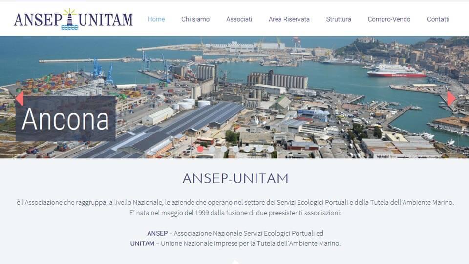 Ansep - Unitam Antech realizzazione siti web
