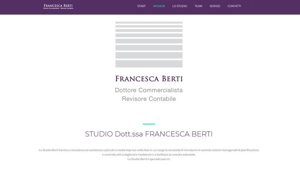 Studio Dott.ssa Francesca Berti - Antech realizzazioni web